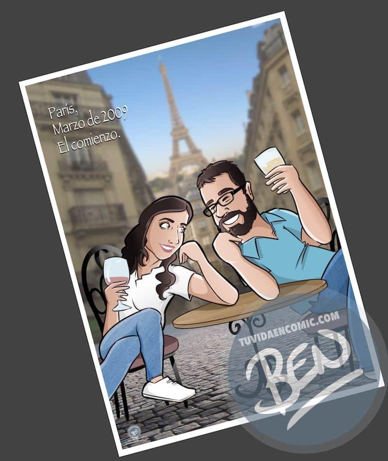 Cómic personalizado - Nuestra historia de amor en cinco viñetas - Ilustración - Caricatura personalizada - www.tuvidaencomic.com - BEN - 0