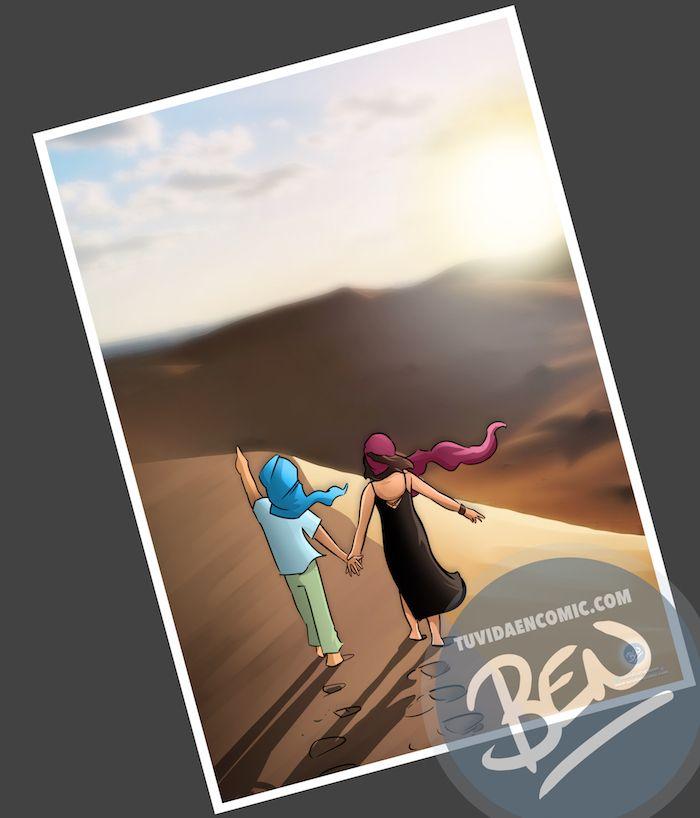 """Cómic personalizado - """"Recordando nuestros viajes"""" - Caricatura personalizada - www.tuvidaencomic.com - BEN - 1"""