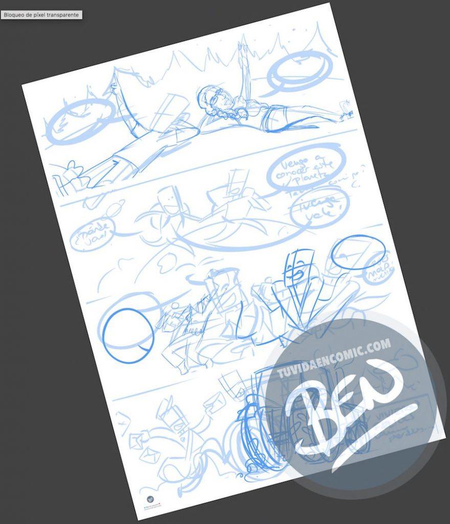 Cómic personalizado - Amores de otro mundo - Regalo de anivesario - tuvidaencomic.com - BEN - Ilustración - Caricatura personalizada - 1