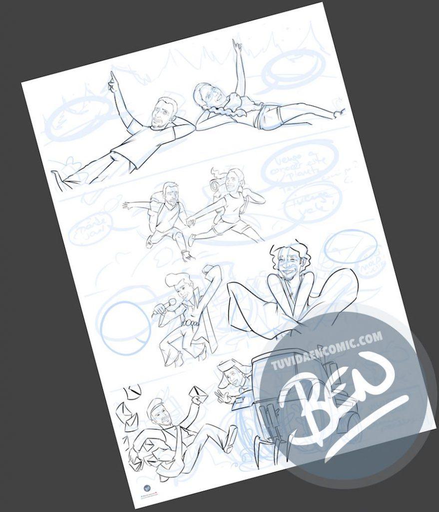 Cómic personalizado - Amores de otro mundo - Regalo de anivesario - tuvidaencomic.com - BEN - Ilustración - Caricatura personalizada - 2