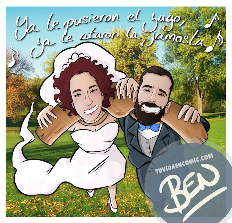 Cómic personalizado - La verdadera historia de Pa&Ces - Regalo de boda original - www.tuvidaencomic.com - BEN - Regalo de boda original - 4
