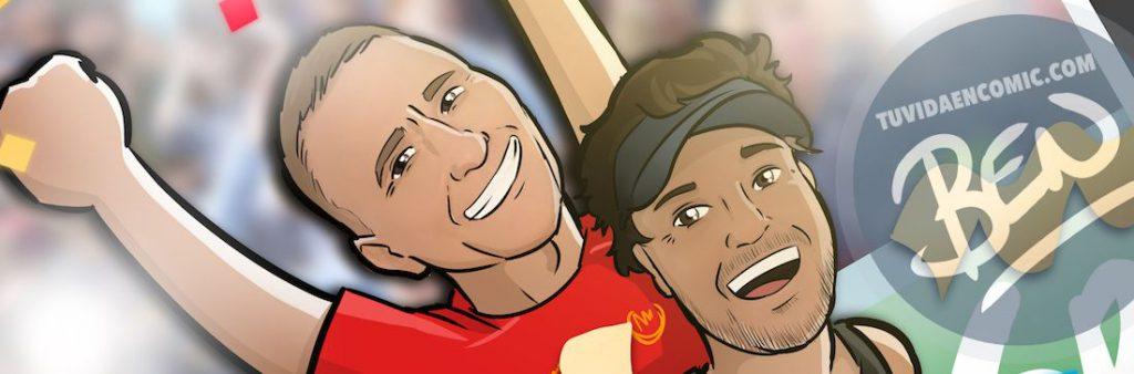 Ilustración personalizada - Amistad y un IronMan contigo a cuestas - Caricatura personalizada - www.tuvidaencomic.com - BEN - 4