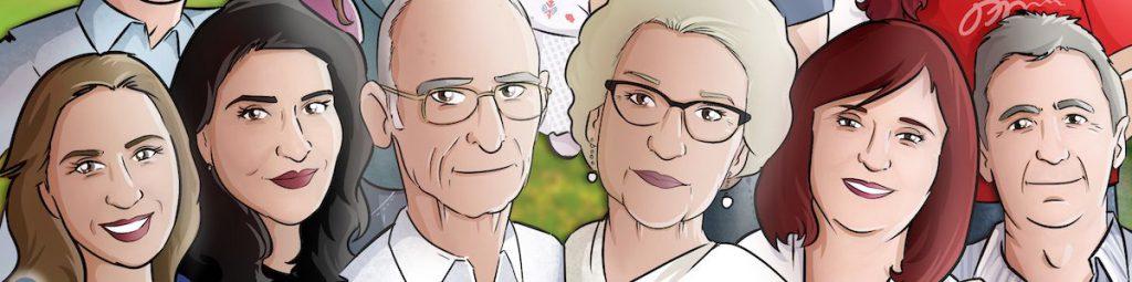Ilustración de familia - Caricatura grupal - Caricatura de familia - www.tuvidaencomic.com - BEN - 0