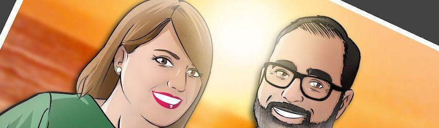 Ilustración personalizada - Caricatura familiar - www.tuvidaencomic.com - BEN - Regalo familiar - Regalo original - 0