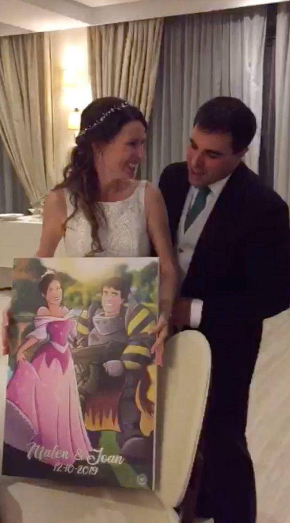 Ilustración personalizada - Princesas y Guerreros - Caricatura personalizada - www.tuvidaencomic.com - BEN - Regalo de boda original - TESTIMONIO - 5