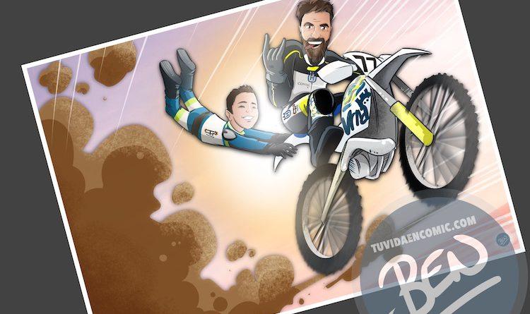 Ilustración personalizada - Profesor sobre ruedas - Caricatura - www.tuvidaencomic.com - BEN - 4
