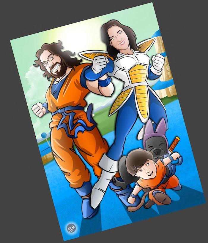 Una familia de Súper Guerreros - www.tuvidaencomic.com - BEN - Caricatura Personalizada - Cómic Personalizado - 4