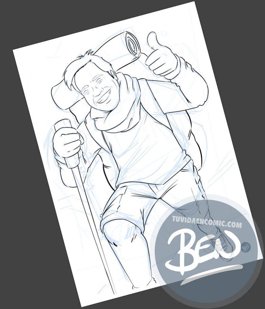 Caricatura personalizada - Regalo original entre amigos - www.tuvidaencomic.com - BEN - 2
