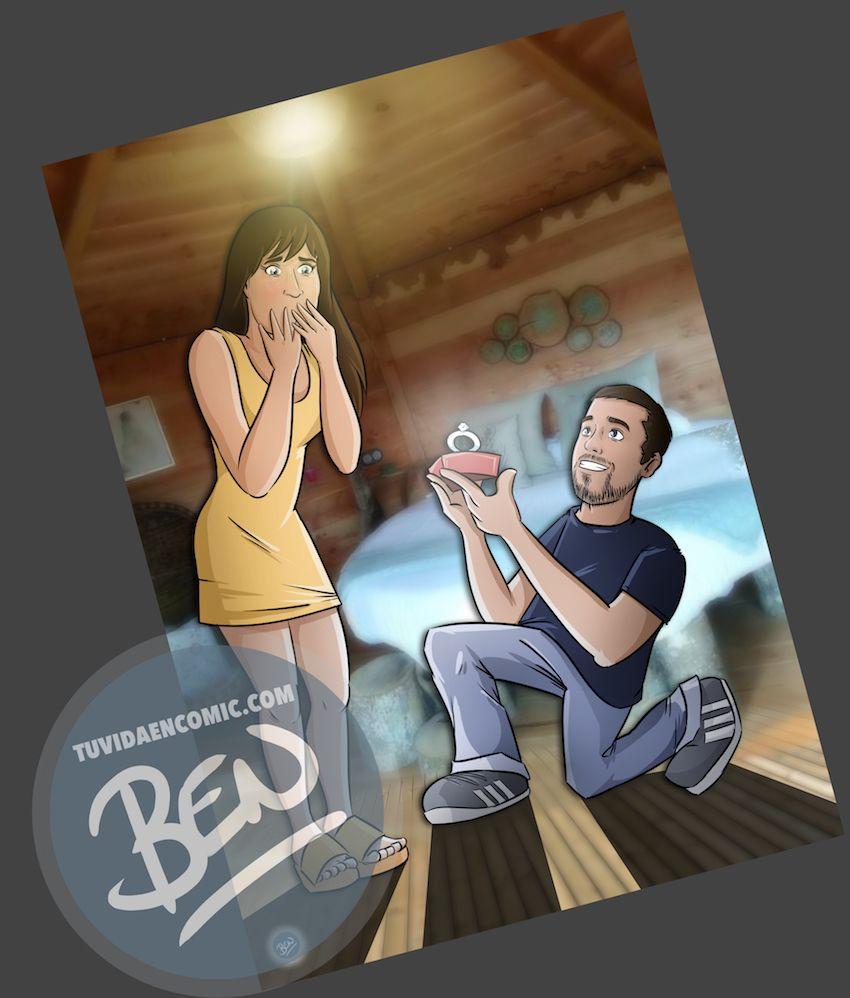 Composición de Ilustraciones - Regalo de boda original en cómic - www.tuvidaencomic.com - Tu Vida en Cómic - BEN - 3