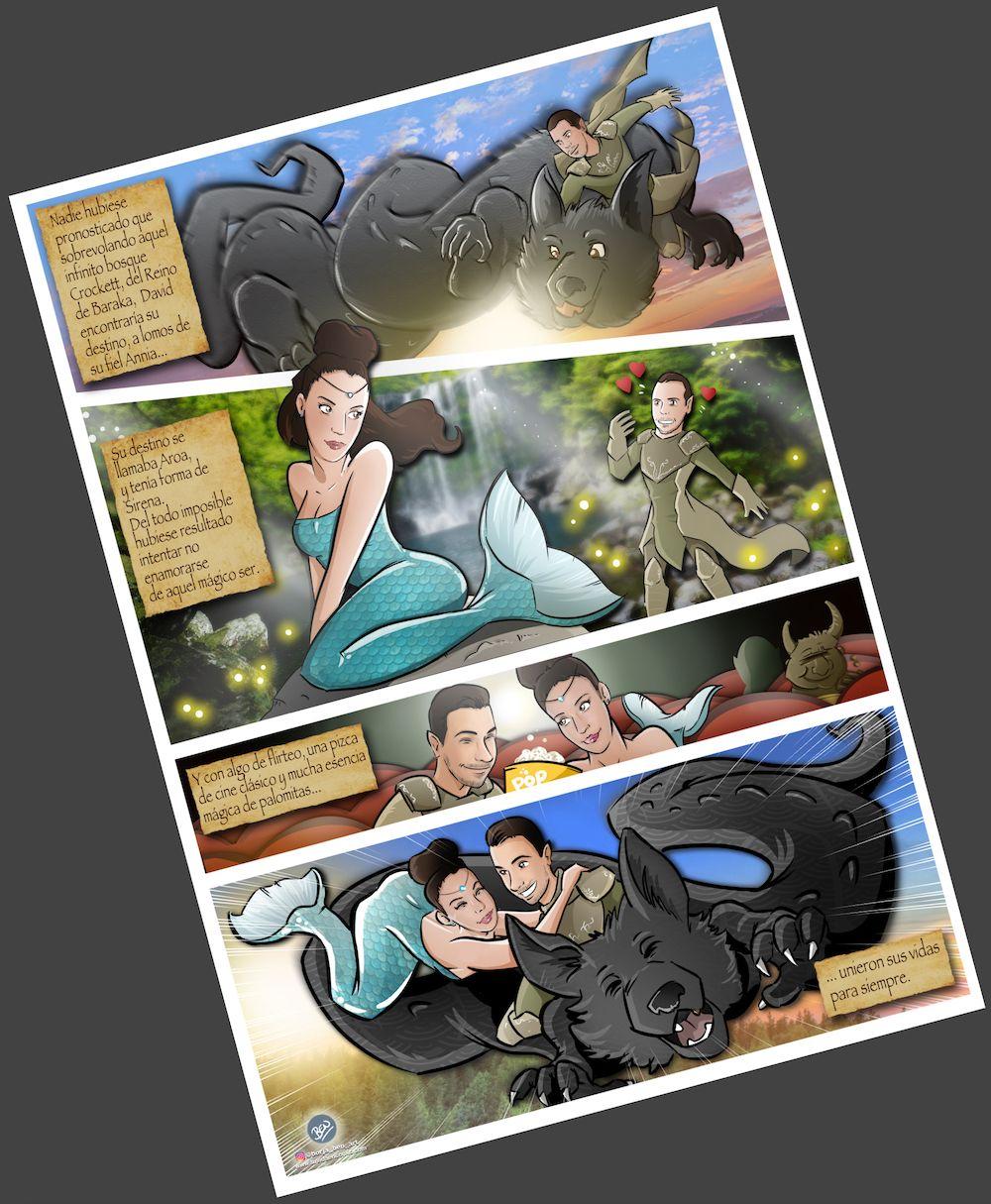 Cómic personalizado - Una boda de cuento - www.tuvidaencomic.com - Tu Vida en Cómic - Caricatura personalizada - BEN - 4