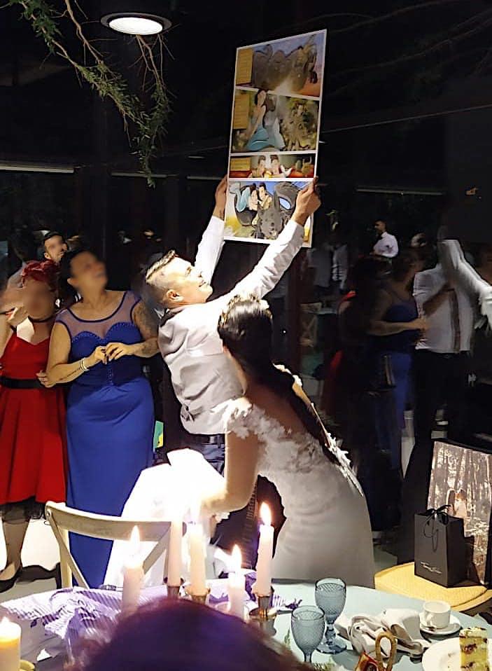 Cómic personalizado - Una boda de cuento - www.tuvidaencomic.com - Tu Vida en Cómic - Caricatura personalizada - BEN - TESTIMONIO