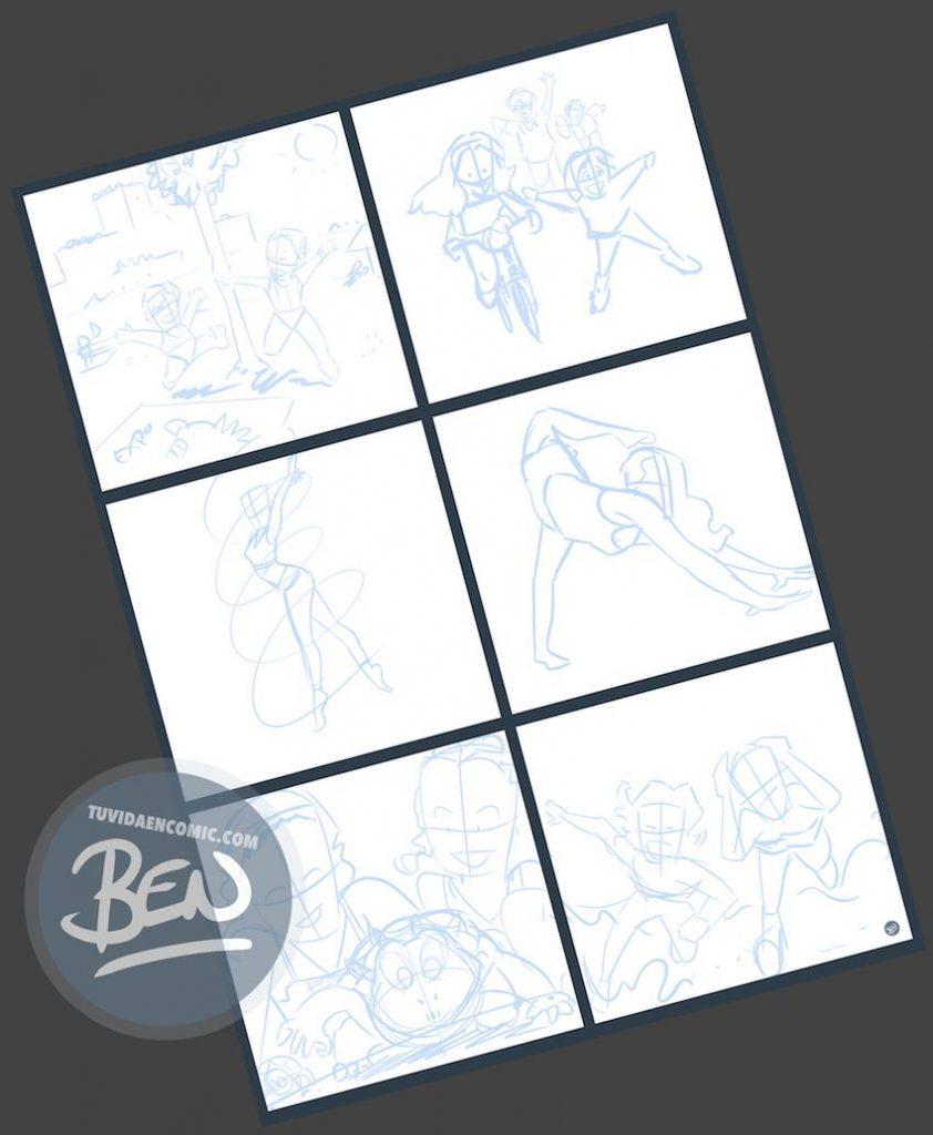 """Composición de Ilustraciones - """"Things Change"""" - Regalo personalizado familiar - www.tuvidaencomic.com - Tu Vida en Cómic - Regalo Personalizado - BEN - Caricatura personalizada - 2"""