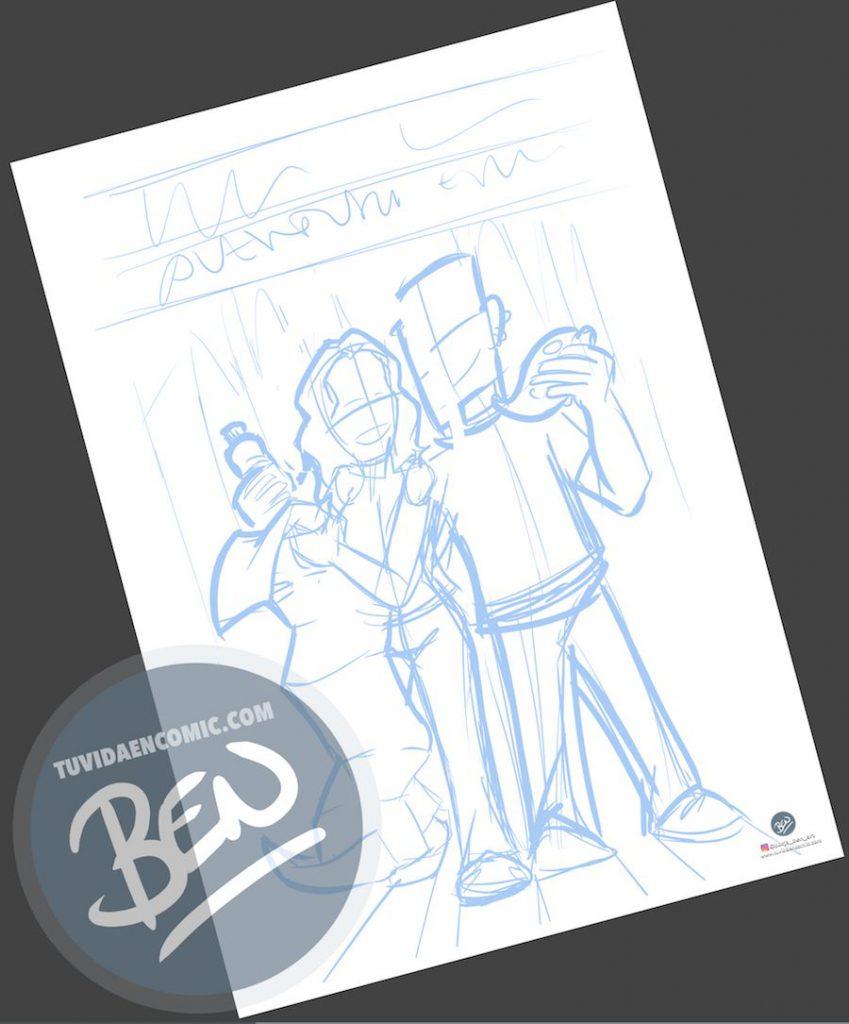 Ilustración - Aventura en Nueva York - caricatura personalizada - www.tuvidaencomic.com - Tu Vida en Cómic - BEN - Regalo original - 1