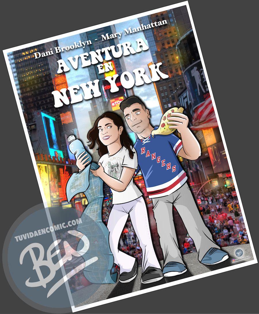 Ilustración - Aventura en Nueva York - caricatura personalizada - www.tuvidaencomic.com - Tu Vida en Cómic - BEN - Regalo original - 5