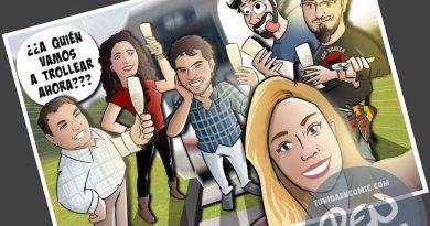 Caricatura Regalo de despedida para un compañero de trabajo - Ilustración grupal - www.tuvidaencomic.com - Tu Vida en Cómic - Regalo de despedida personalizado - BEN - 4