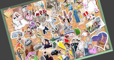 Ilustración - Regalo de cumpleaños original - -Una-vida-en-35-pegatinas-Stickers-personalizados-www.tuvidaencomic.com-BEN-Tu-Vida-en-Cómic-Caricatura-personalizada-sticker-0