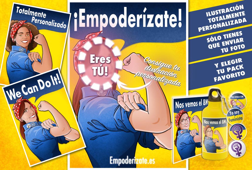 Cabecera grande_empoderizate_Empoderizate-tuvidaencomic.com_empoderizate.es_ilustración personalizada_ilustración feminista