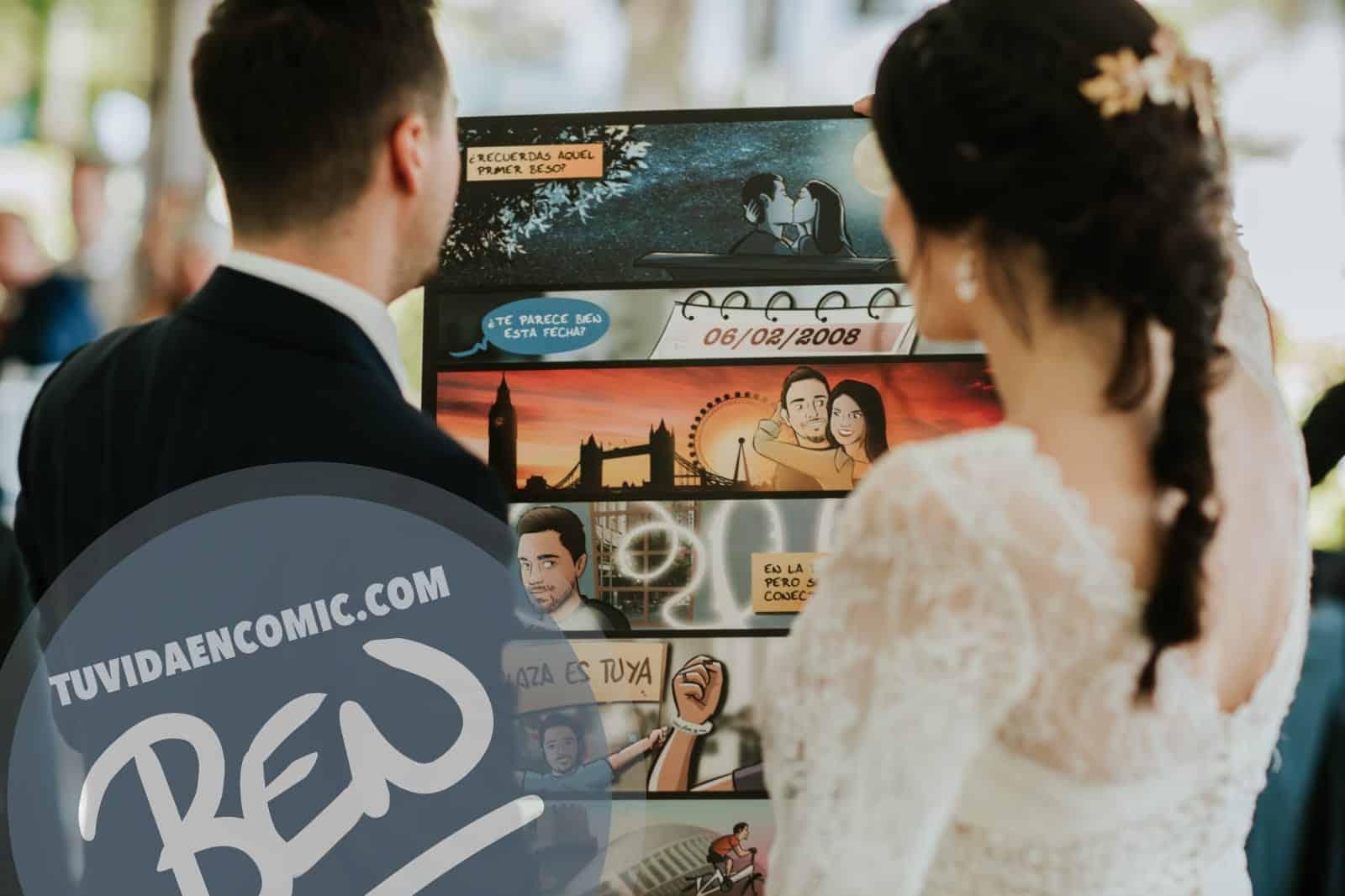 """Cómic personalizado - """"Regalo de boda con Nuestra historia de Amor en viñetas"""" - www.tuvidaencomic.com - Regalos personalizados - Bodas personalizadas - Bodas originales - Tu Vida en Cómic - TESTIMONIO 2"""