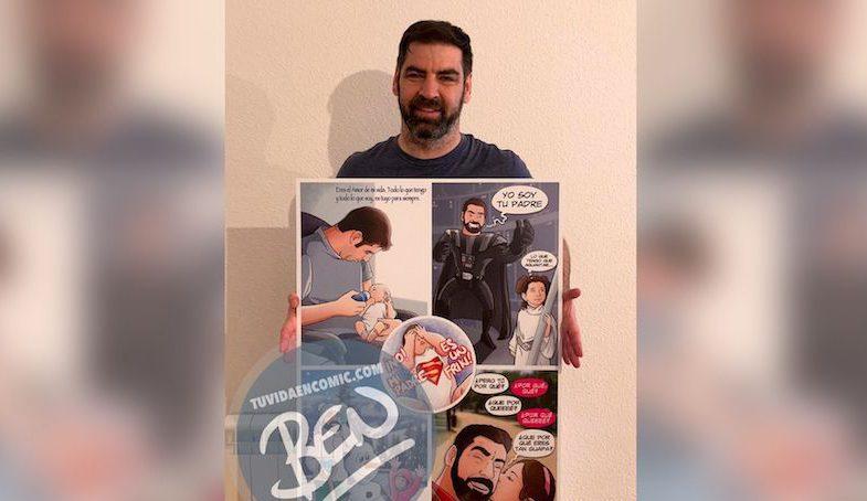 Regalo del día del Padre personalizado - Momentos de Padre e hija - Composición de ilustraciones - Tu Vida en Cómic - www.tuvidaencomic.com - BEN - Cómic Personalizado - TESTIMONIO 1