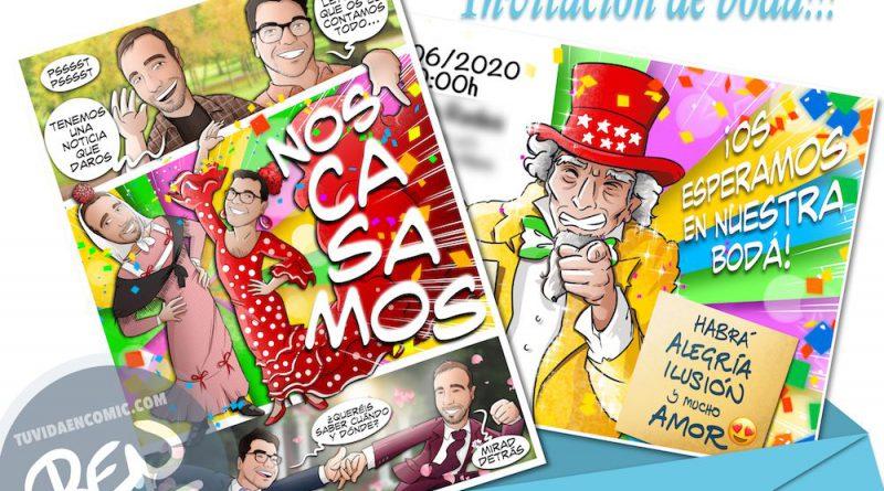 Invitación de boda personalizada tipo cómic - Invitaciones de boda personalizadas - bodas originales - Tu Vida en Cómic - www.tuvidaencomic.com - BEN - 3