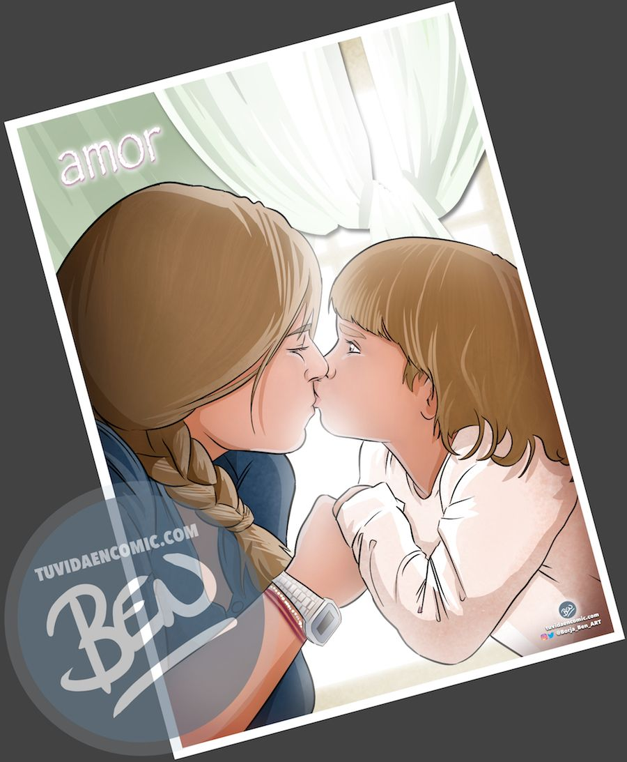 Regalo de cumpleaños personalizado - Ilustraciones de familia - www.tuvidaencomic.com - Tu Vida en Cómic - BEN - Regalos personalizados - Regalo del día del padre - Caricatura personalizada - 3