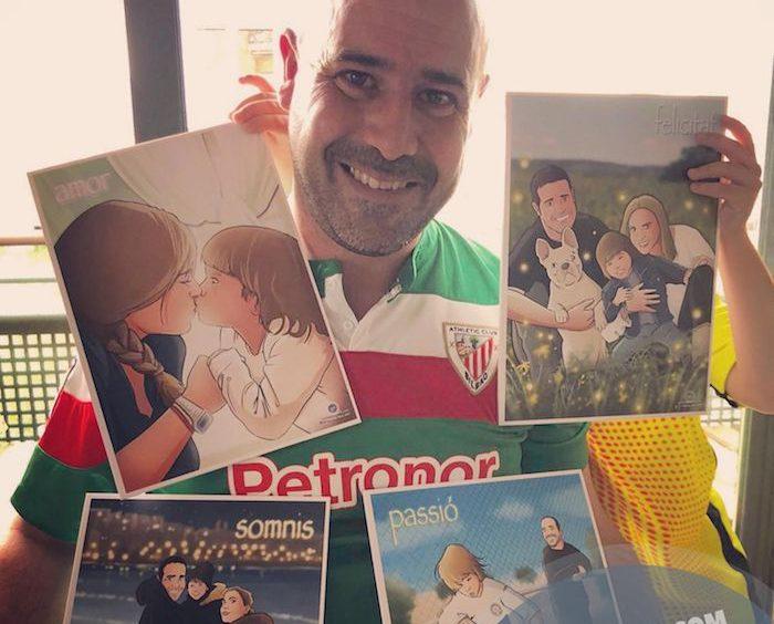 Regalo de cumpleaños personalizado - Ilustraciones de familia - www.tuvidaencomic.com - Tu Vida en Cómic - BEN - Regalos personalizados - Regalo del día del padre - Caricatura personalizada - TESTIMONIO 1