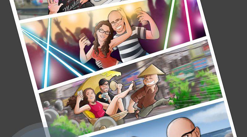 """Cómic personalizado - """"Nuestra historia de amor en cuatro viñetas"""" - Regalo personalizado romántico - www.tuvidaencomic.com - Tu Vida en Cómic - Borja_Ben_ART - Regalo de cumpleaños original - 5"""
