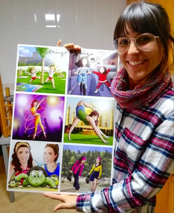 Composición-de-Ilustraciones-Things-Change-Regalo-personalizado-familiar-www.tuvidaencomic.com-Tu-Vida-en-Cómic-Regalo-Personalizado-BEN-Caricatura-personalizada-TESTMONIO