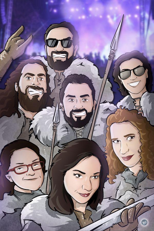 Ejemplos - Ilustraciones - Caricaturas personalizadas - Regalos personalizados - Regalos originales - Tu Vida en Cómic - BEN - www.tuvidaencomic.com - 7