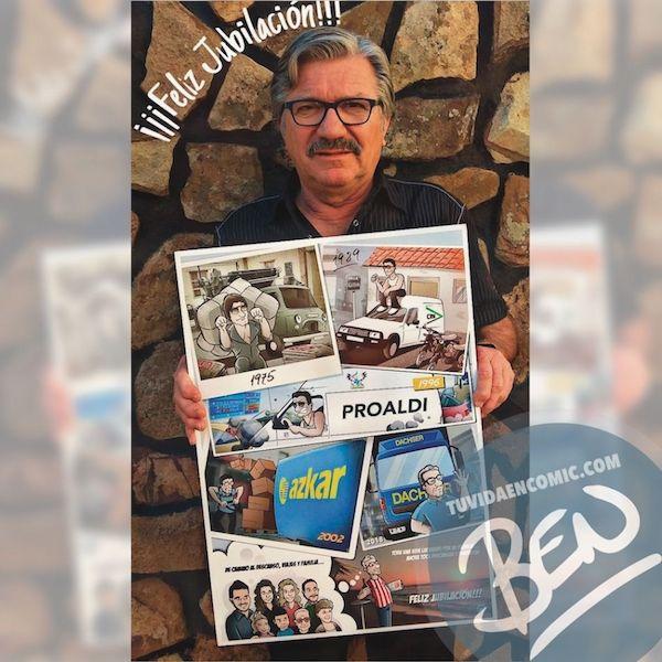 Ilustración-personalizada-Composición-Regalo-de-Jubilación-Camionero-Caricatura-personalizada-tuvidaencomic.com-BEN-Testimonio-2