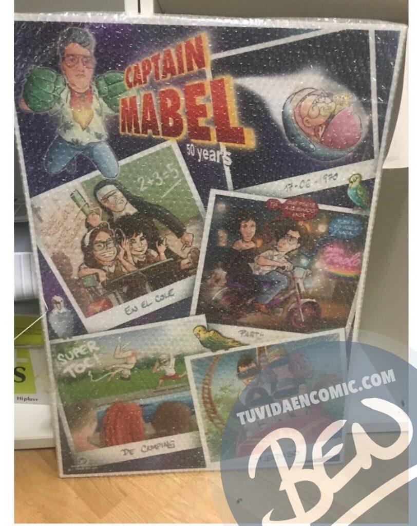 """Cómic personalizado - """"Captain Mabel"""" - Regalo de cumpleaños personalizado - www.tuvidaencomic.com - Caricaturas - Borja_Ben_ART - Banner principal Impreso"""