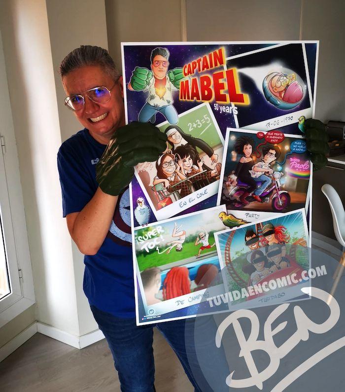 """Cómic personalizado - """"Captain Mabel"""" - Regalo de cumpleaños personalizado - www.tuvidaencomic.com - Caricaturas - Borja_Ben_ART - Testimonio 3"""