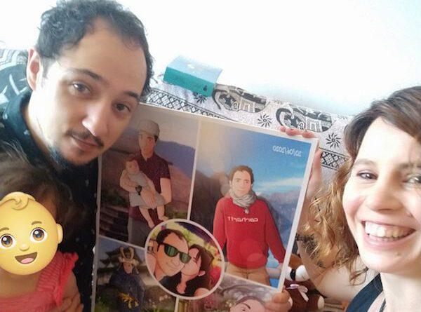 """Composición de ilustraciones """"Escenas de familia"""" – Regalo de cumpleaños personalizado – Tu Vida en Cómic - 0a"""