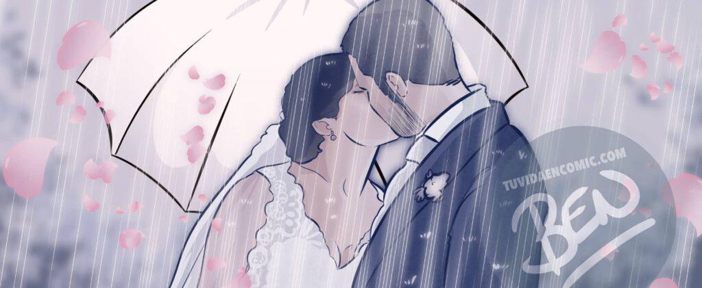 """Cómic Personalizado – """"Nuestra vida juntos, viajes, confinamiento y mucho huchinni"""" – Regalo de aniversario original y romántico - tuvidaencomic.com - 0a"""