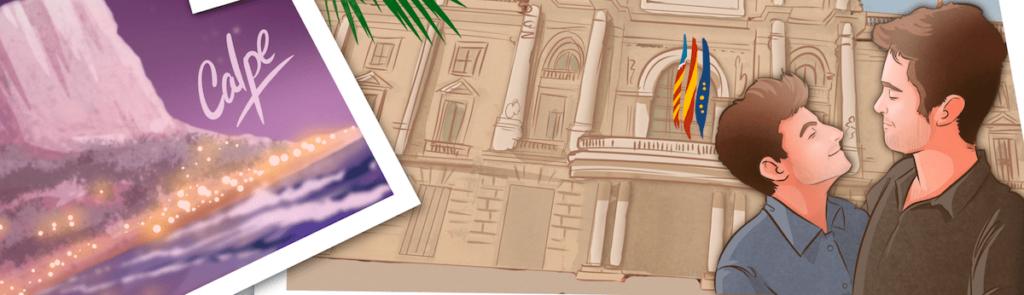 """Composición de ilustraciones – """"Dos años juntos"""" – Regalo de aniversario original y personalizado - tuvidaencomic.com - Cómic personalizado - Caricatura personalizada - 4"""