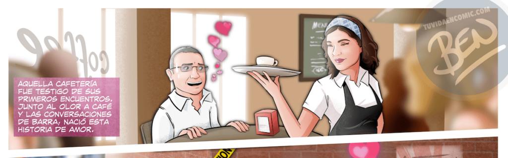 """Cómic Personalizado – """"Un café que terminó en boda"""" – Regalo de Boda original y personalizado - www.tuvidaencomic.com - 6"""