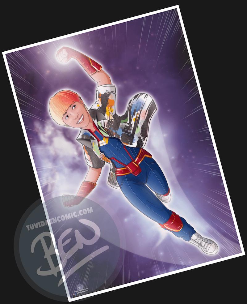 """Ilustración personalizada – """"Soy toda una Superheroína"""" – Caricatura personalizada – Caricatura de superhéroes - www.tuvidaencomic.com - 5"""