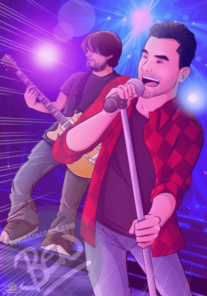 Ilustración personalizada - Inmortalizando nuestra música en formato cómic - Caricatura Personalizada - www.tuvidaencomic.com - 1