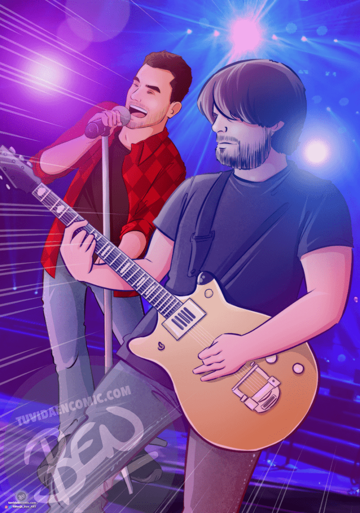 Ilustración personalizada - Inmortalizando nuestra música en formato cómic - Caricatura Personalizada - www.tuvidaencomic.com - 2