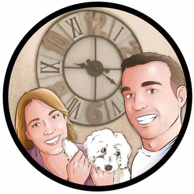 Composición de Ilustraciones - Porque te quiero - www.tuvidaencomic.com - Regalos románticos personalizados - arte personalizado - Regalo de aniverario personalizado - 0