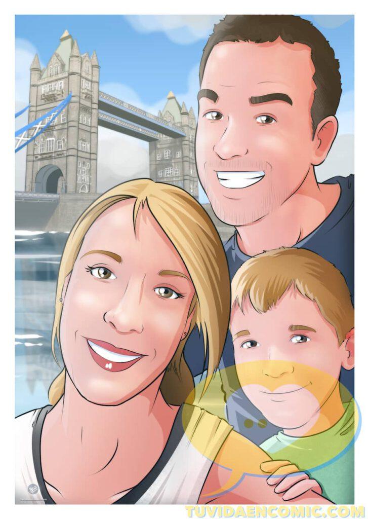 Composición de Ilustraciones - Porque te quiero - www.tuvidaencomic.com - Regalos románticos personalizados - arte personalizado - Regalo de aniverario personalizado - 2