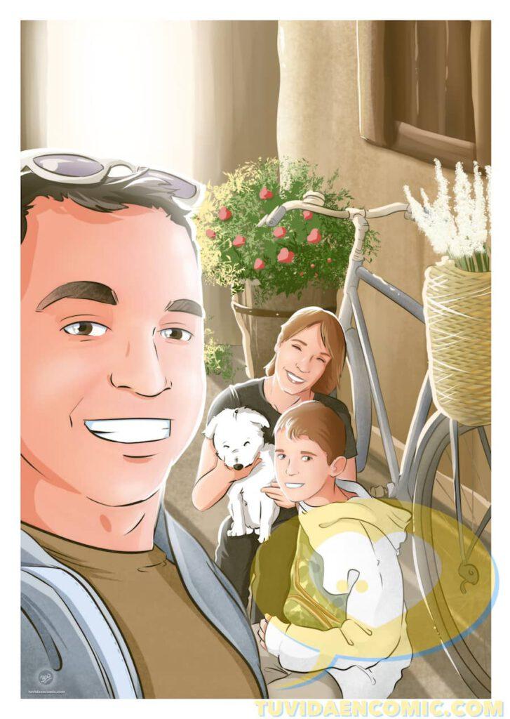 Composición de Ilustraciones - Porque te quiero - www.tuvidaencomic.com - Regalos románticos personalizados - arte personalizado - Regalo de aniverario personalizado - 3