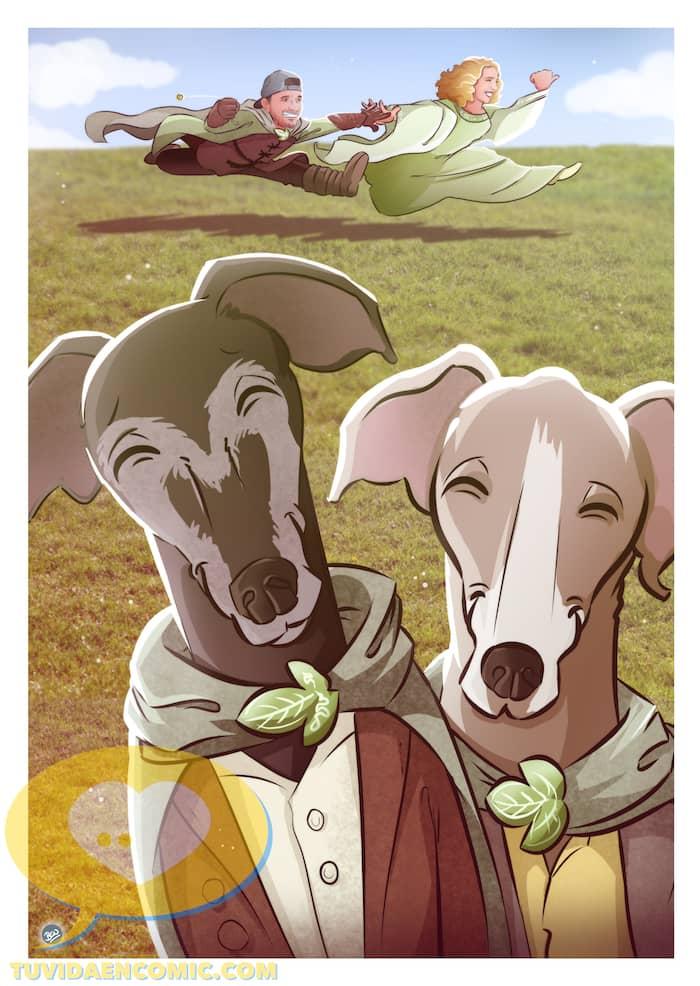 Lámina de Ilustraciones personalizadas - Mi tesorooooo - Regalo de boda original - www.tuvidaencomic.com - Regalo para los novios - 2