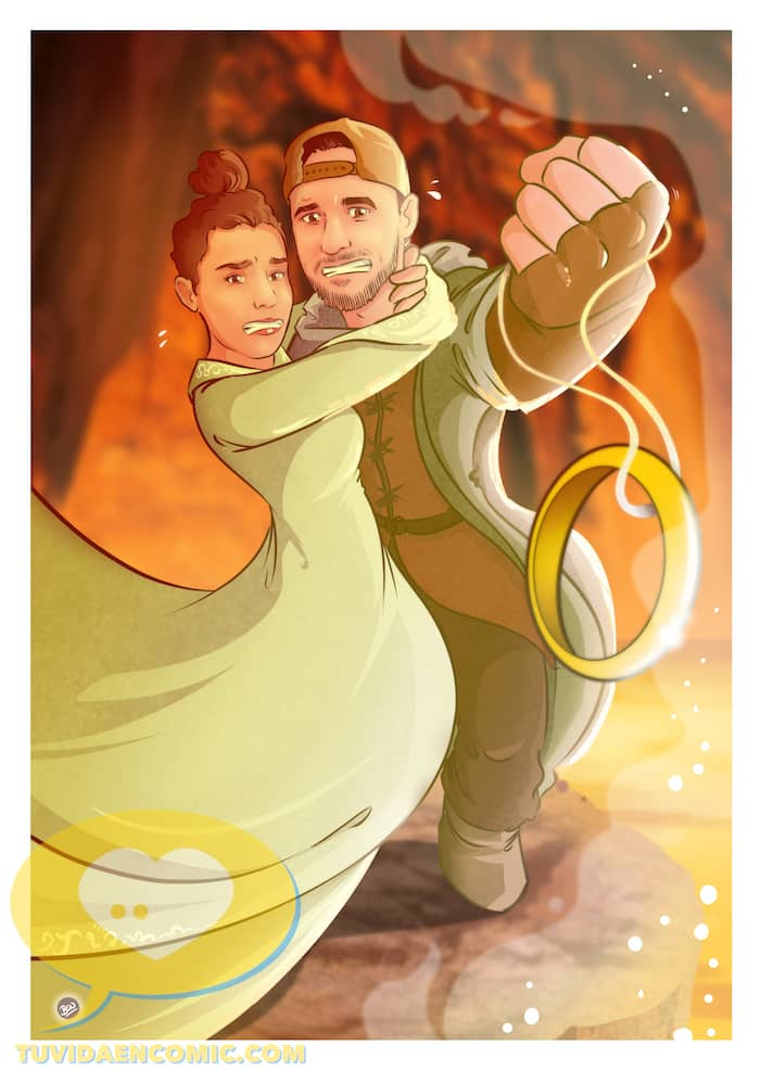 Lámina de Ilustraciones personalizadas - Mi tesorooooo - Regalo de boda original - www.tuvidaencomic.com - Regalo para los novios - 3