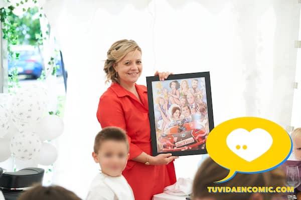 Regalo de boda personalizado - Ilustración personalizada - caricatura grupal - www.tuvidaencomic.com - regalos personalizados - regalos artísticos - TESTIMONIO CLIENTES SATISFECHOS 7